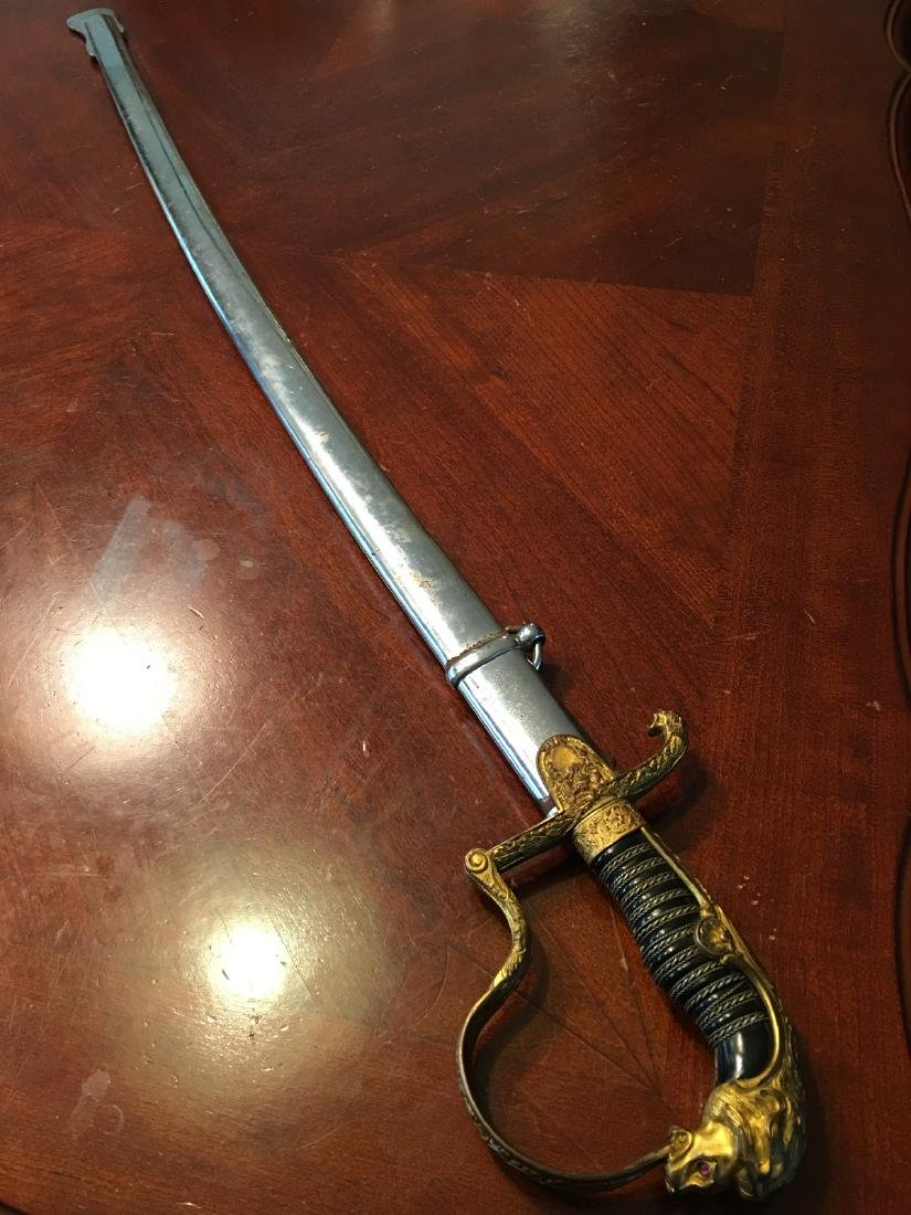 ANTIQUE German Lion Head Sword