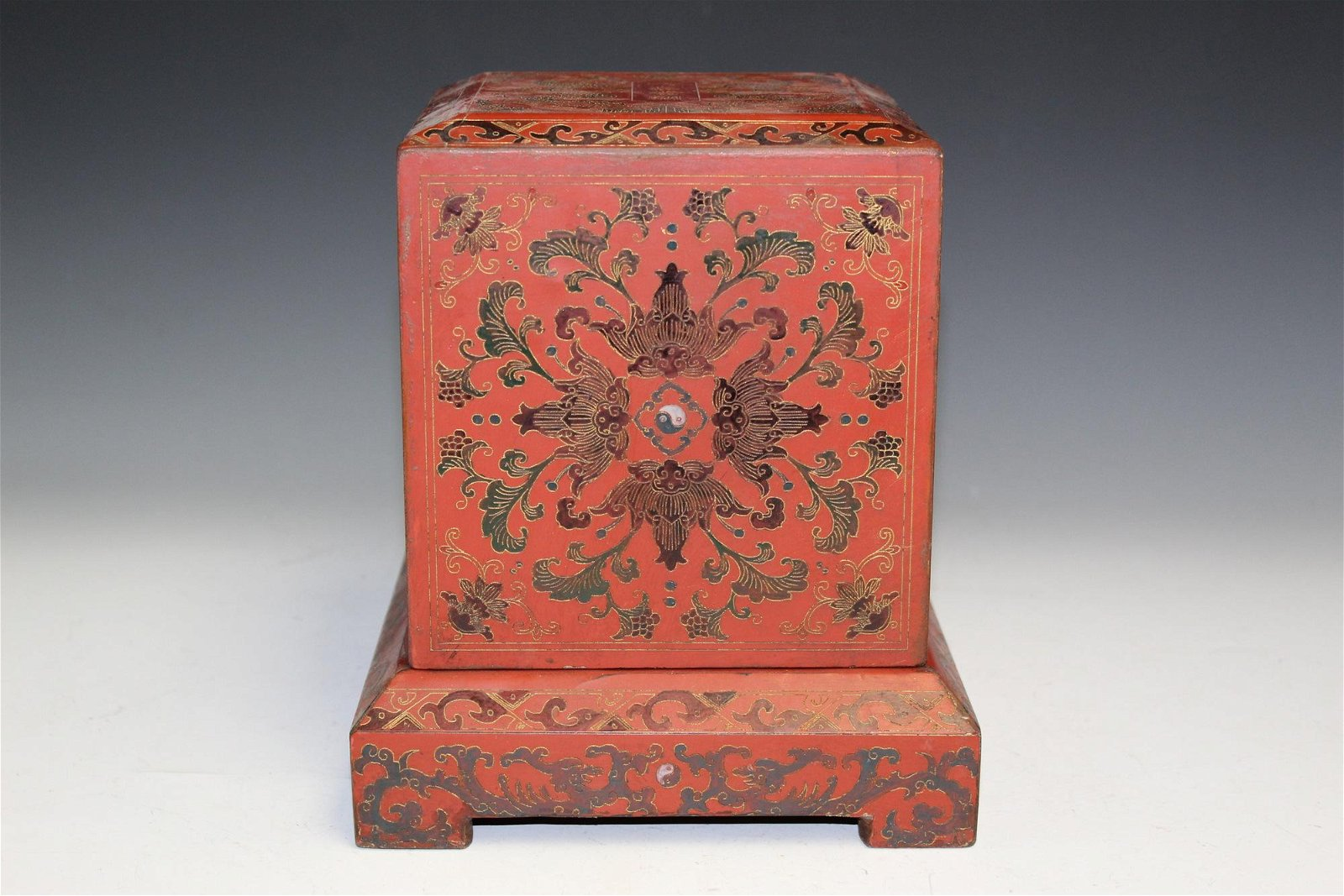Chinese red lacquer box.