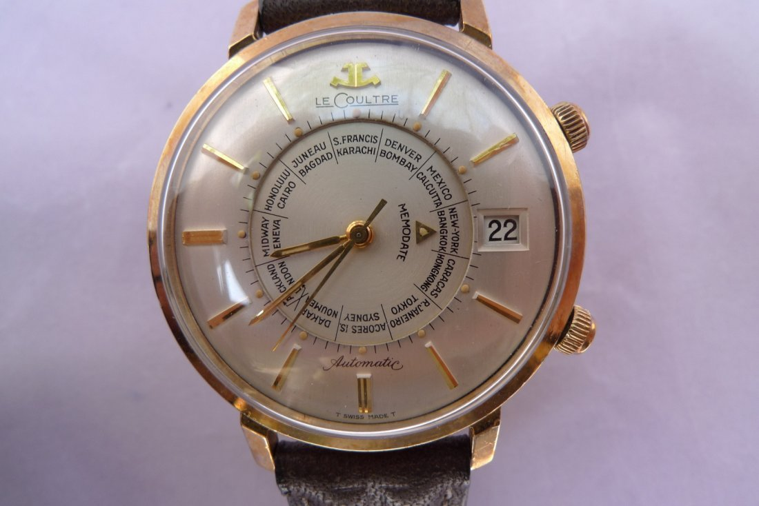 Jaeger LeCoultre World Time Memodate Alarm Auto Watch