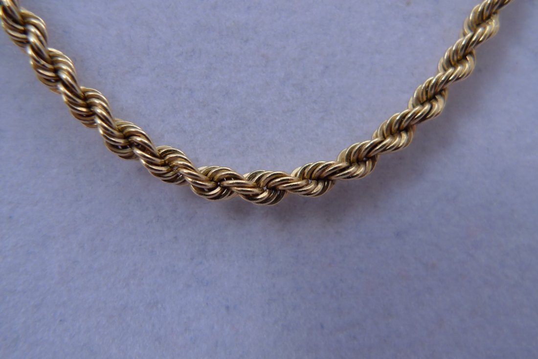 "14K Yellow Gold Necklace. 20"" 11.6g"