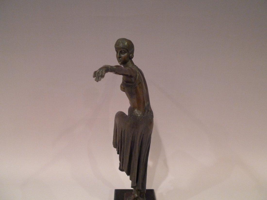 """FRENCH ART DECO BRONZE DANCER SCULPTURE SIGNED """"NOEE"""" - 5"""