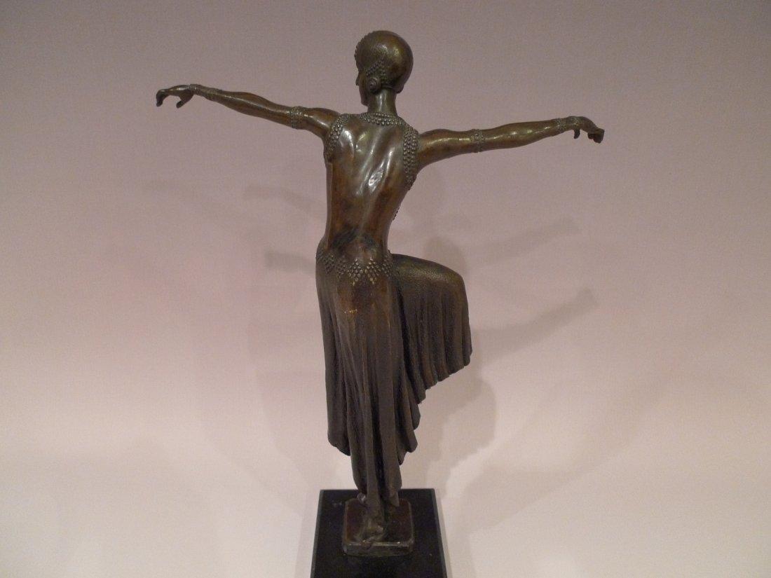 """FRENCH ART DECO BRONZE DANCER SCULPTURE SIGNED """"NOEE"""" - 6"""