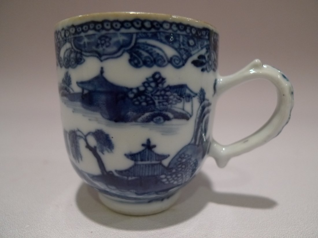 CHINESE BLUE & WHITE PORCELAIN CUP QIANGLONG 18TH C