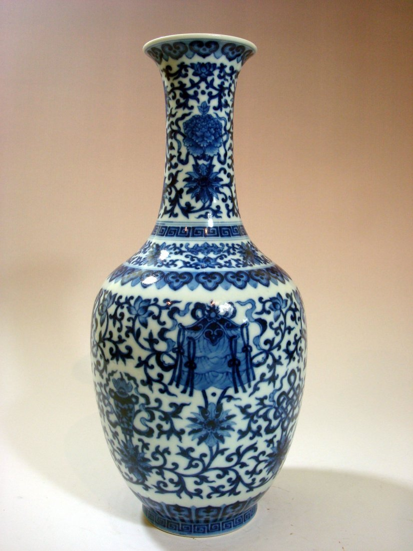 Antique Chinese Blue and White Vase, Daoguang mark