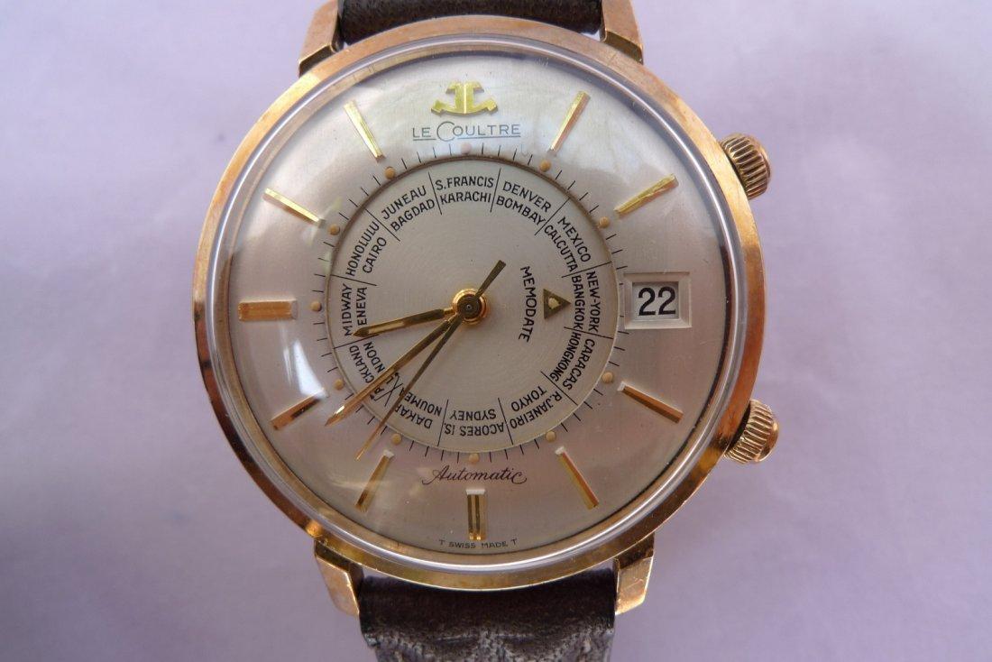 Jaeger LeCoultre World Time Memodate Alarm Auto Watch