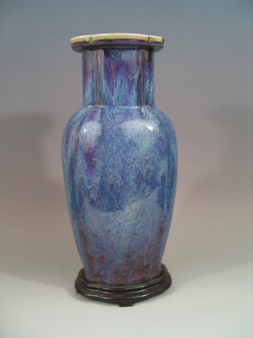 Antique Chinese Sang De Boeuf Porcelain Vase, Qianlong