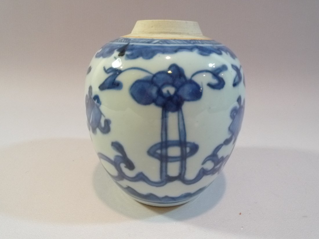MING CHINESE ANTIQUE BLUE & WHITE PORCELAIN JAR 16TH C