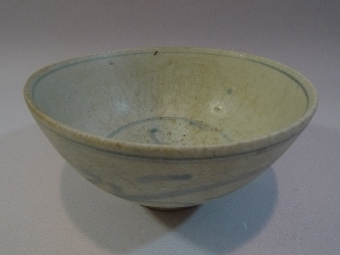 MING CHINESE ANTIQUE BLUE & WHITE PORCELAIN BOWL 16TH C