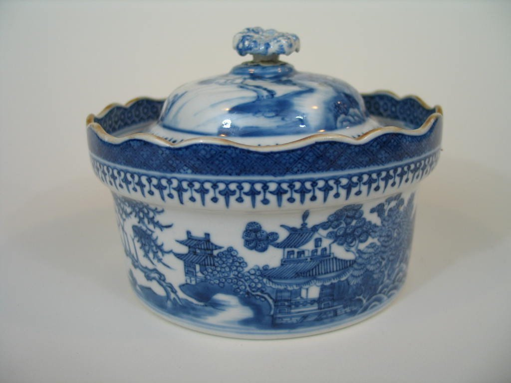 Antique Chinese Blue and White Porcelain Bowl with
