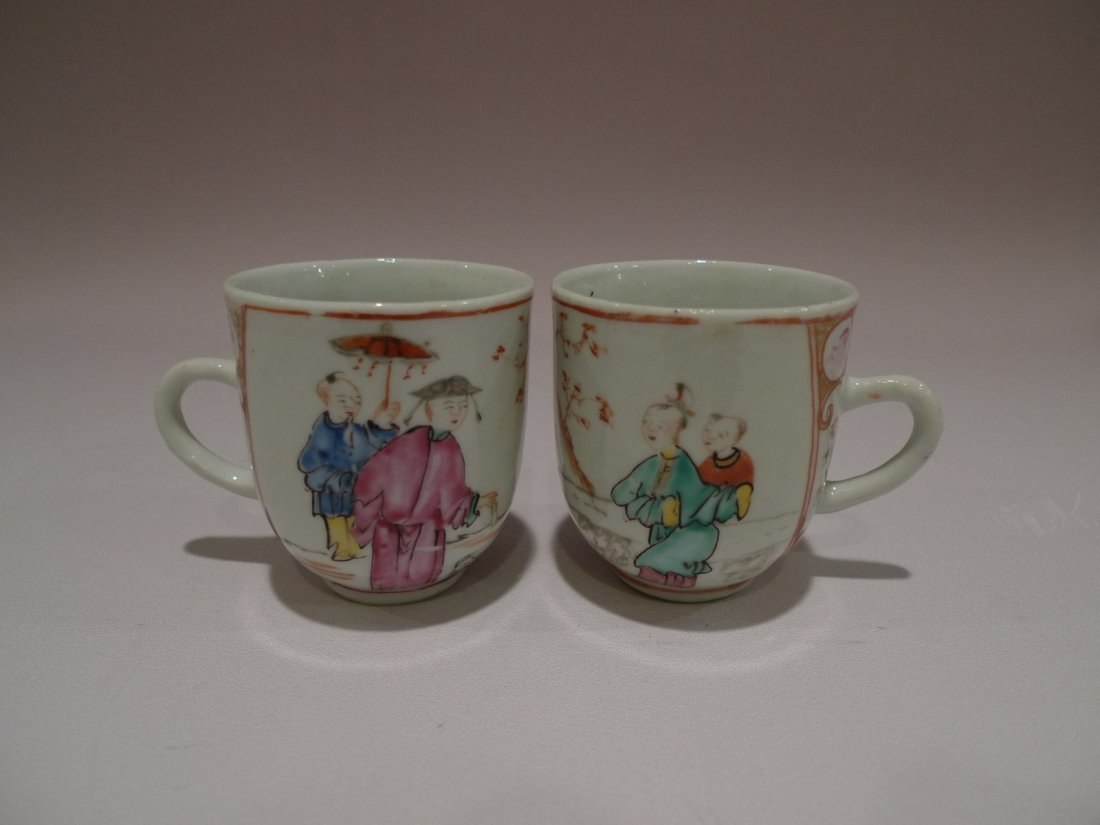 CHINESE FAMILLE ROSE PORCELAIN CUP QIANGLONG 18TH C
