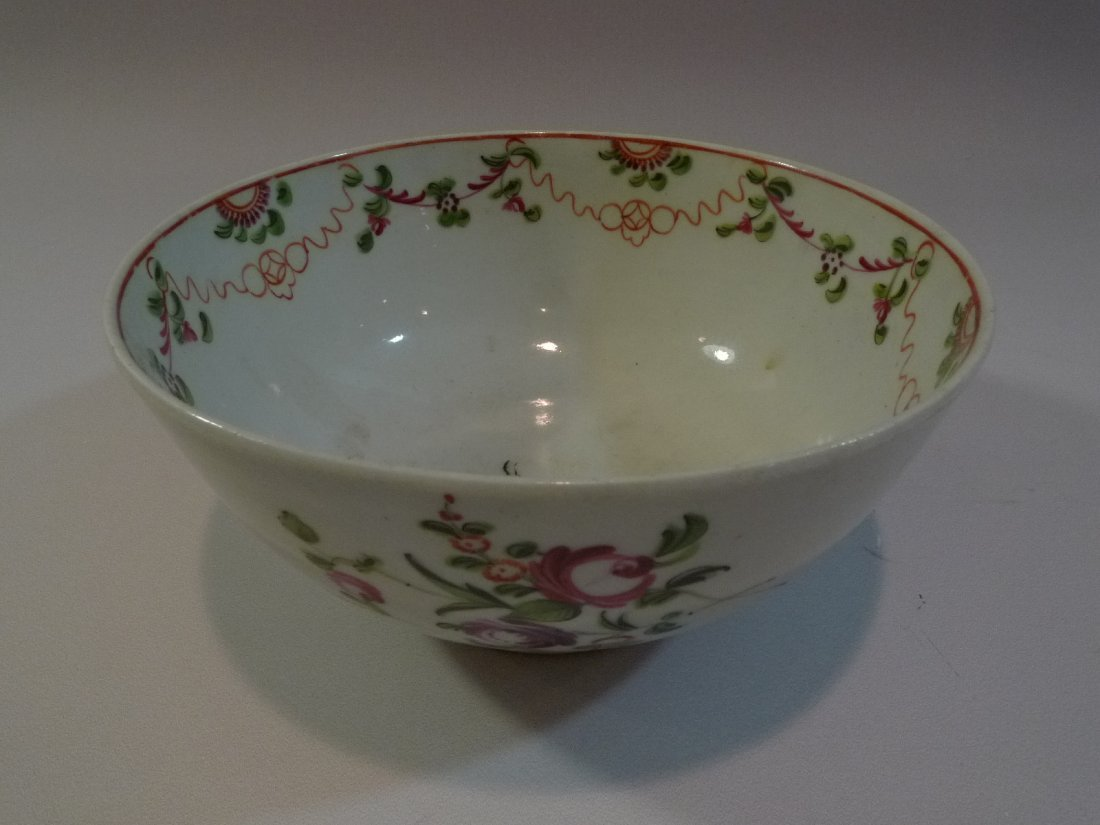18TH C ANTIQUE CHINESE FAMILLE ROSE PORCELAIN BOWL QING
