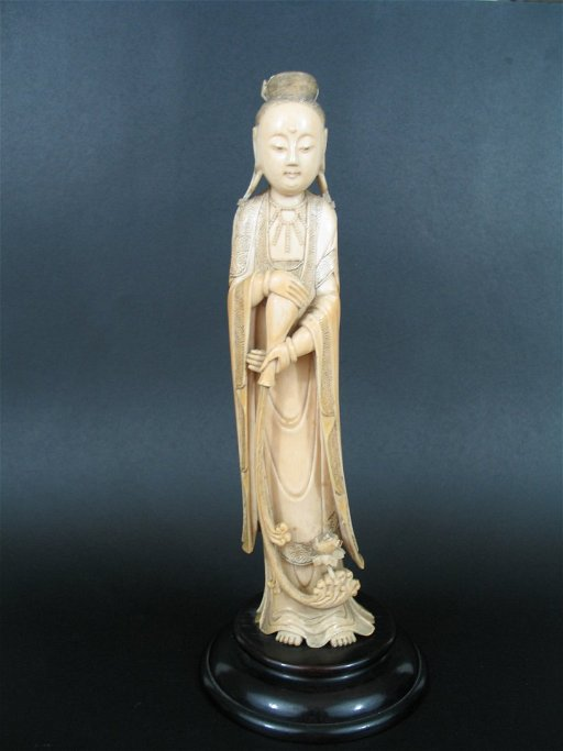 Antique Chinese Ivory Guanyin Statue Nov 09 2013 Capitoline