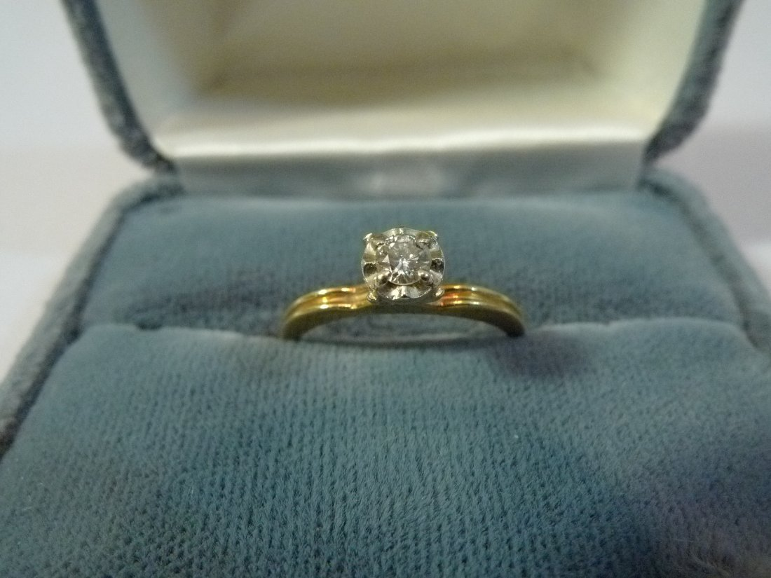 14K SOLID GOLD NATURAL DIAMOND ENGAGEMENT RING 0.25