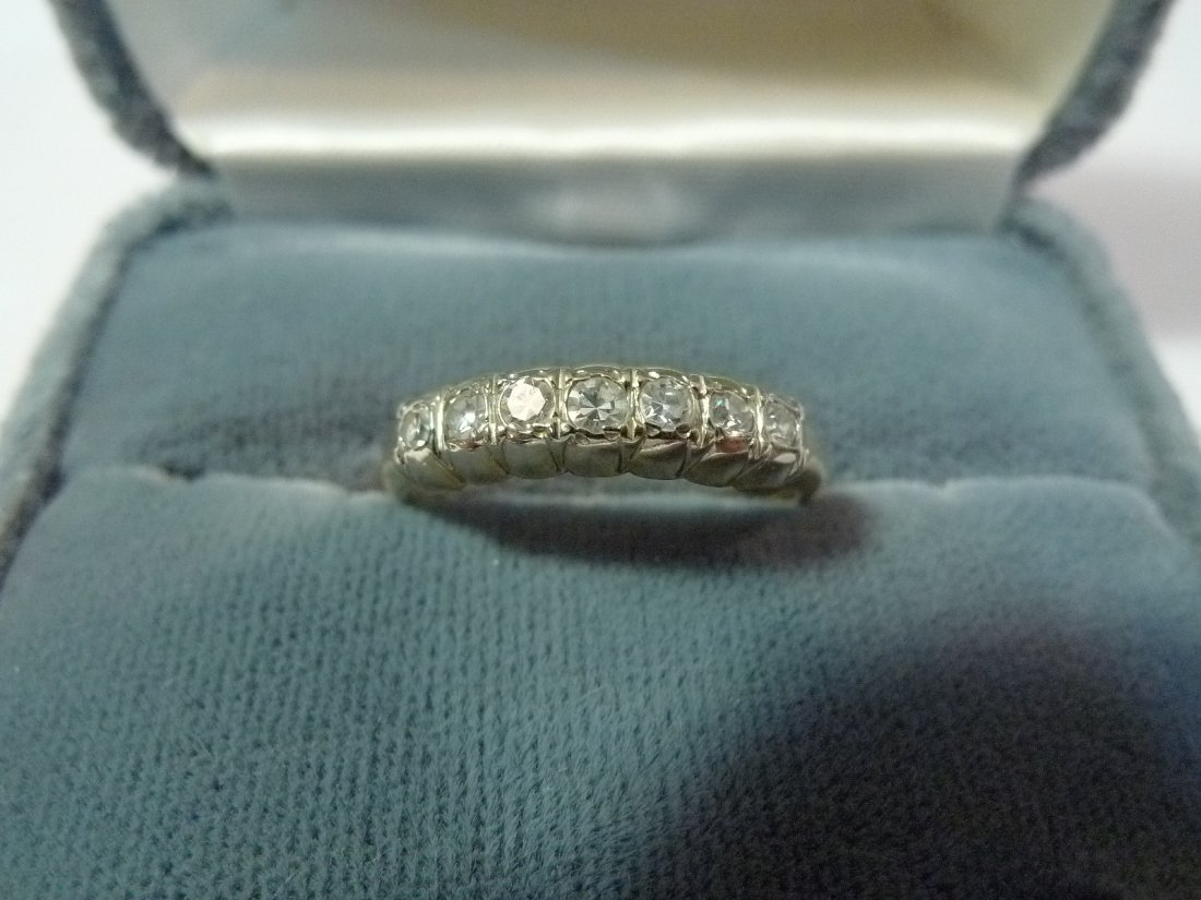 14K SOLID GOLD NATURAL DIAMOND WEDDING RING BAND 0.5