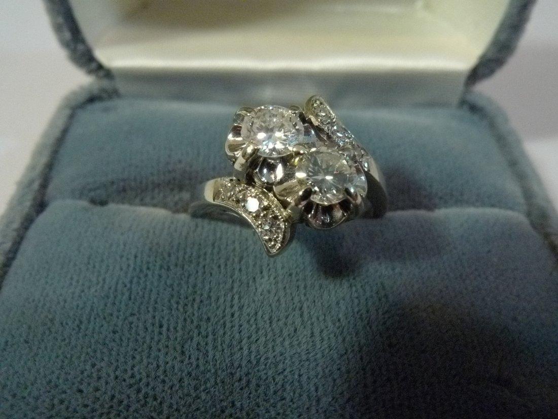 14K SOLID GOLD NATURAL DIAMOND RING 1 CARAT 4 GRAMS