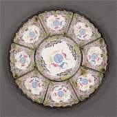 Chinese Enamel 9-piece Condiment Dishes with Lacquer