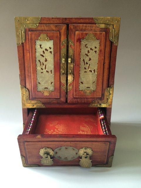 ANTIQUE CHINESE JEWELRY BOX - 3
