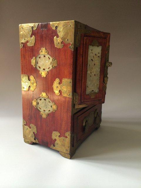ANTIQUE CHINESE JEWELRY BOX - 4
