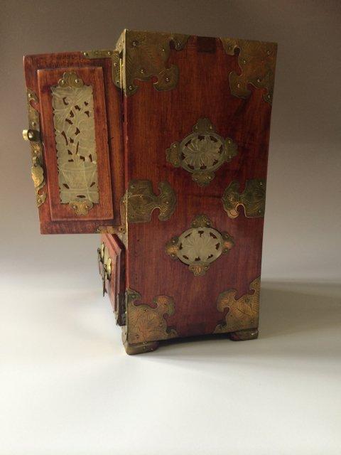 ANTIQUE CHINESE JEWELRY BOX - 5