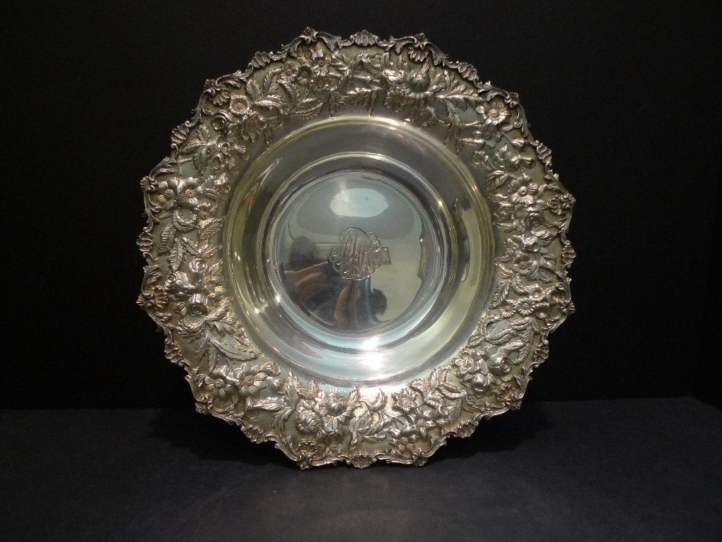 IMPORTANT S KIRK & SON STERLING SILVER BOWL - ROSE