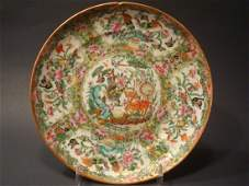 ANTIQUE Chinese Famille Rose Plate, early 19th C. 8