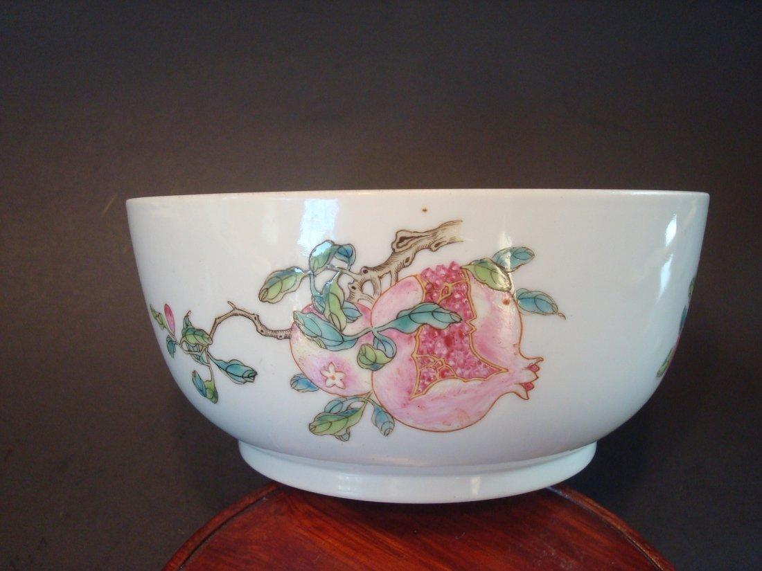 ANTIQUE Chinese Famille Rose Sanduo Bowl, Daoguang Mark