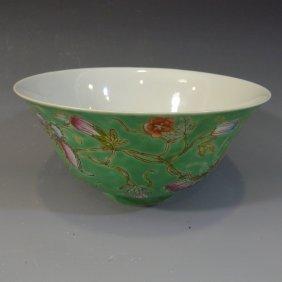 Antique Chinese Famille Rose Porcelain Bowl Republic
