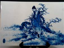 Chinese Blue and White Porcelain Plaque Early 20th