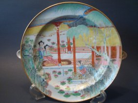 Antique Chinese Famille Rose Warming Plate, Early 19th