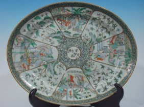 Antique Chinese Famille Rose Large Platter, Early 19th