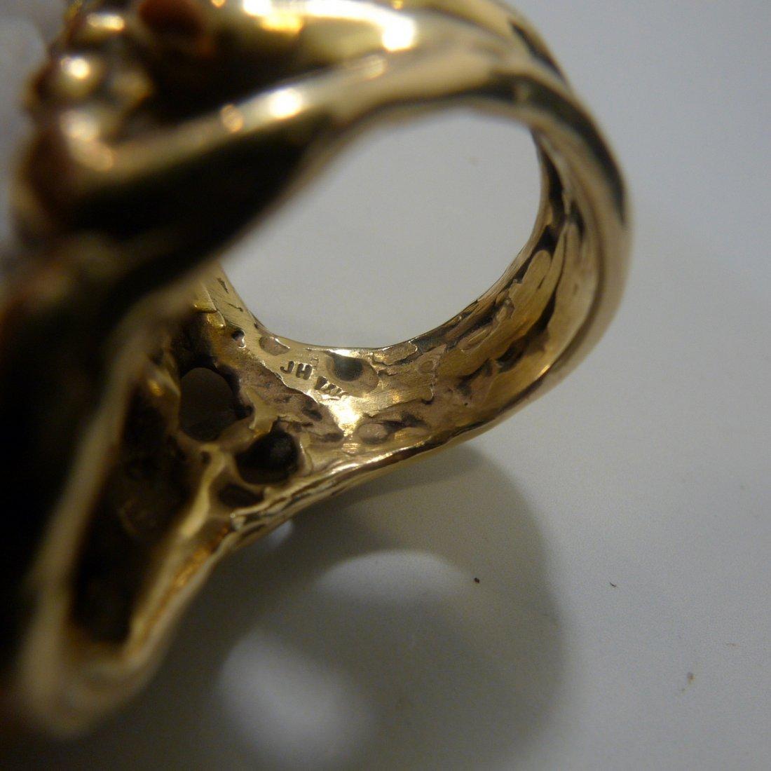 IMPRESSIVE LAVENDER JADEITE RING 14K GOLD JOHN HARDY - 7