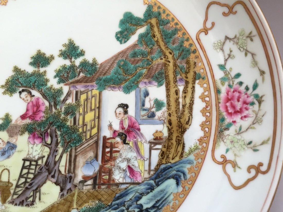 A FAMILLE ROSE PORCELAIN  DISH  YONGZHENG MARK 20TH - 3