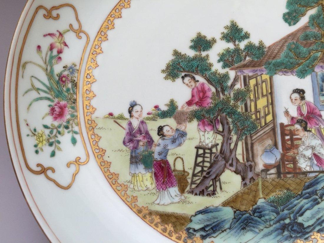 A FAMILLE ROSE PORCELAIN  DISH  YONGZHENG MARK 20TH - 4
