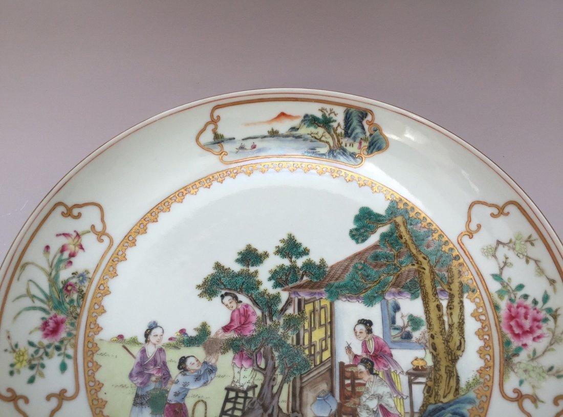 A FAMILLE ROSE PORCELAIN  DISH  YONGZHENG MARK 20TH - 5