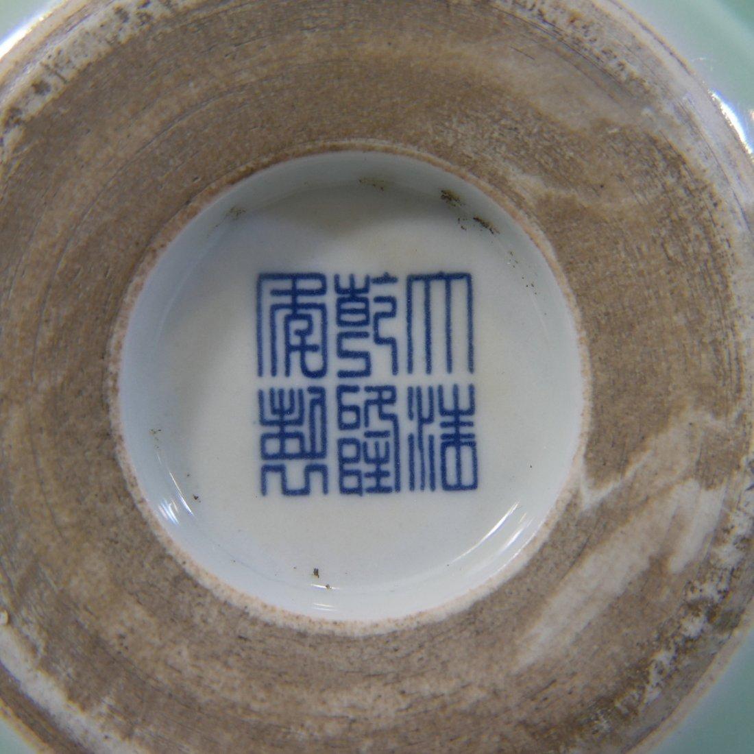 ANTIQUE CHINESE CELADON  DOUBLE GOURD PORCELAIN VASE - - 8