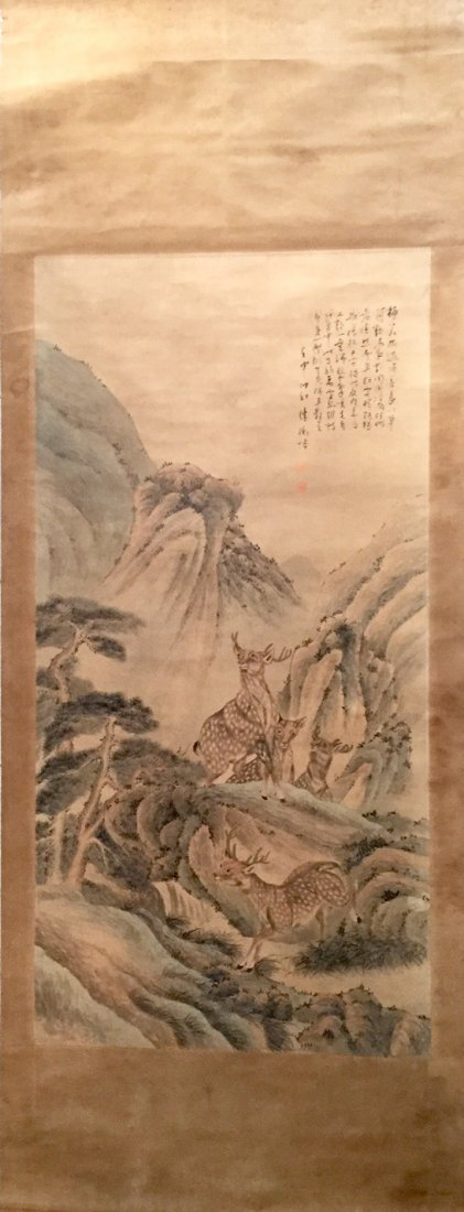 CHINESE ANTIQUE PAINTING 19TH CENTURY