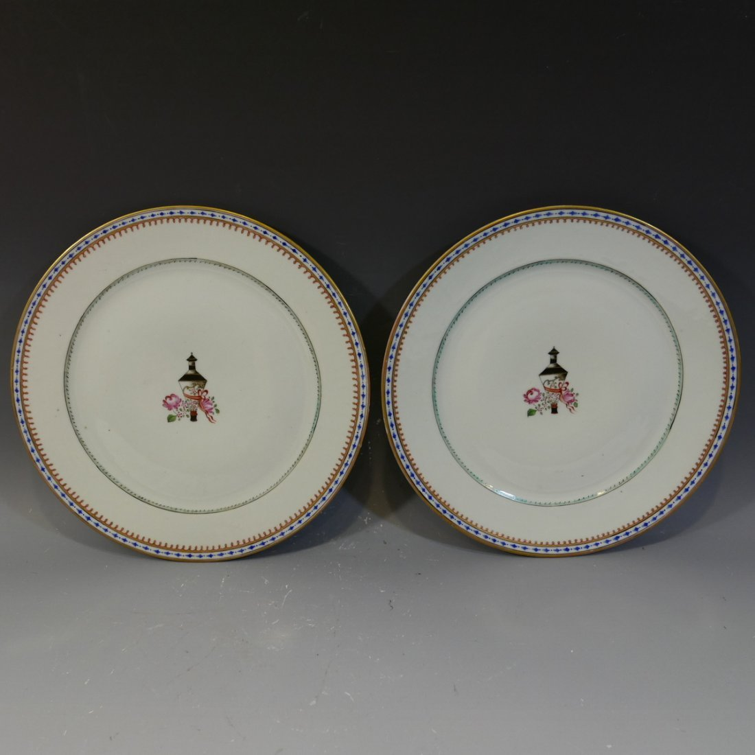 PAIR ANTIQUE CHINESE FAMILLE ROSE PORCELAIN PLATES - 18