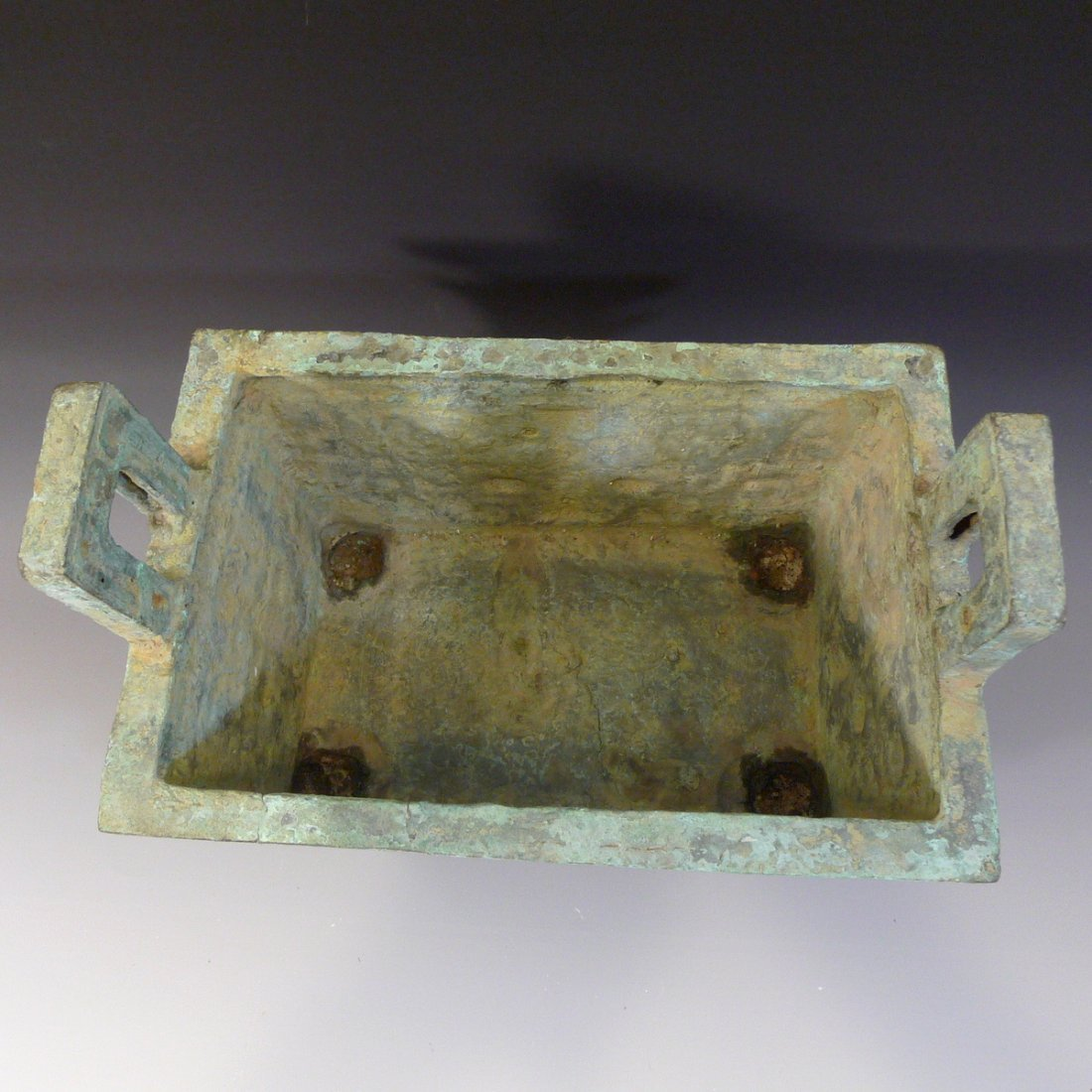 CHINESE ARCHAISTIC BRONZE DING SHANG STYLE - 3
