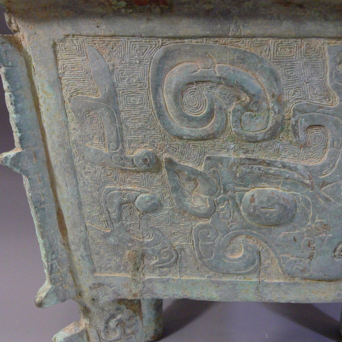 CHINESE ARCHAISTIC BRONZE DING SHANG STYLE - 4