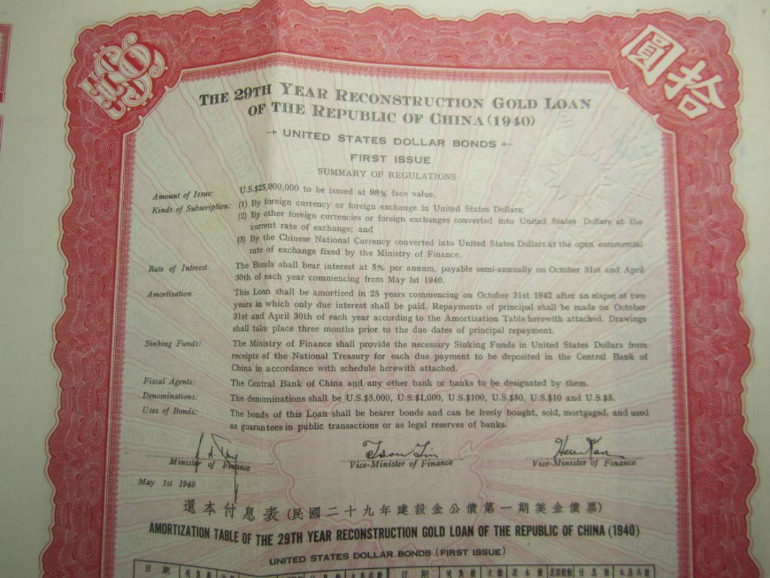 THE 29TH YEAR RECONSTRUCTION GOLD LOAN OF THE REPUBLIC - 7