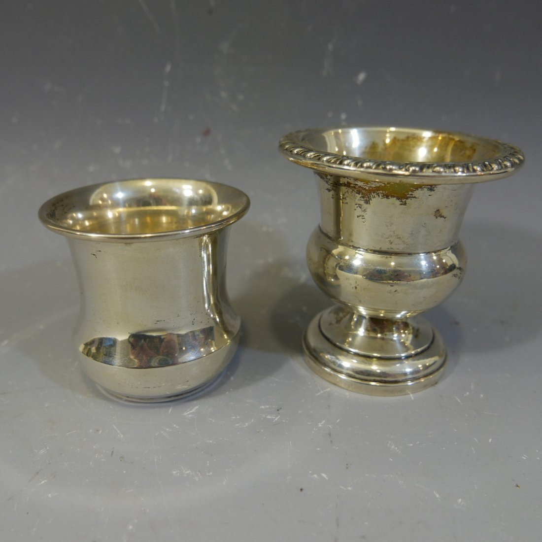 TWO STERLING SILVER CUPS - 90 GRAMS