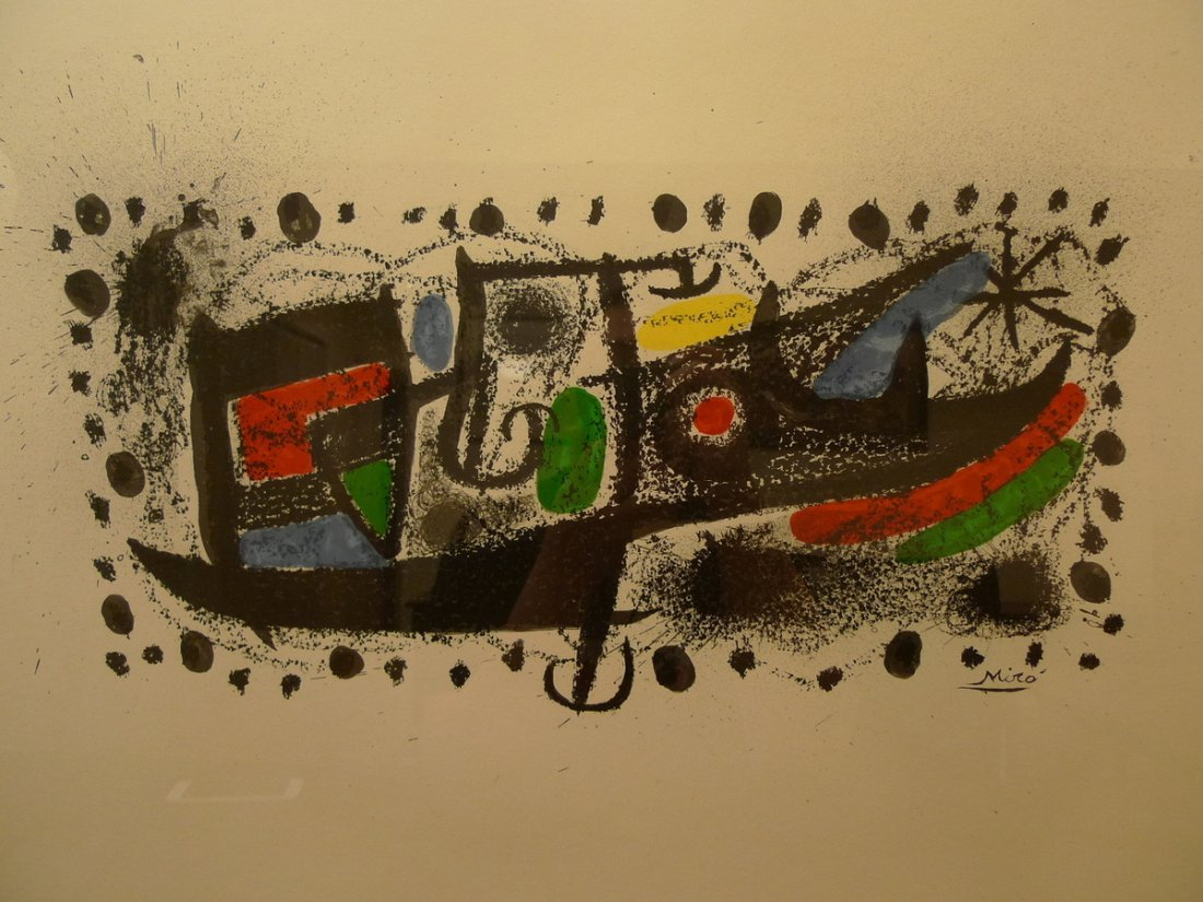 "JOAN MIRO (1893-1983), COMPOSITION - ""JOAN MIRO AND"