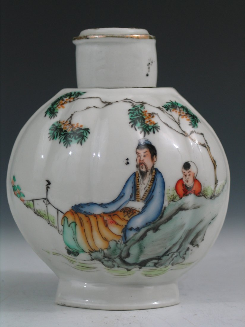 Chinese Famille Rose Porcelain Tea Caddy, Republic