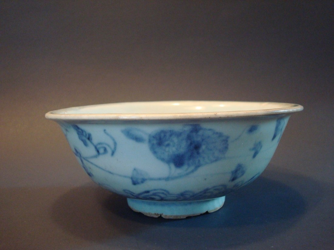 ANTIQUE Chinese Blue and White Bowl, Ming