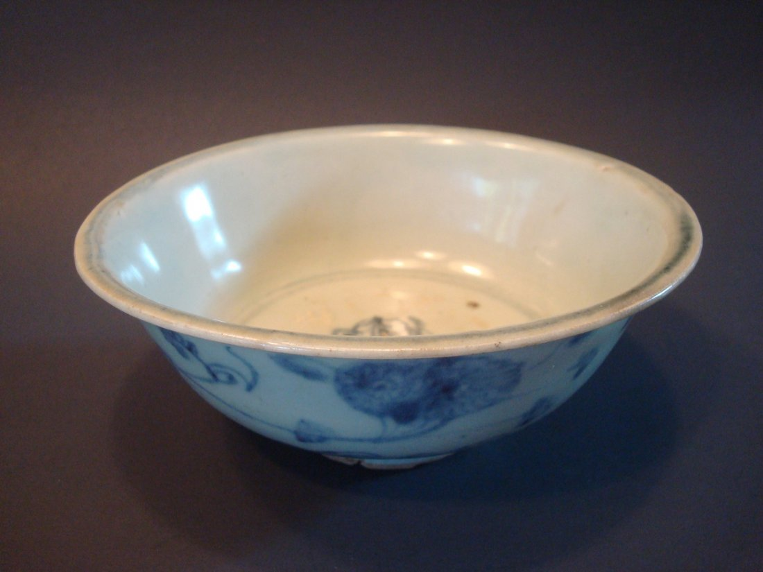 ANTIQUE Chinese Blue and White Bowl, Ming - 2