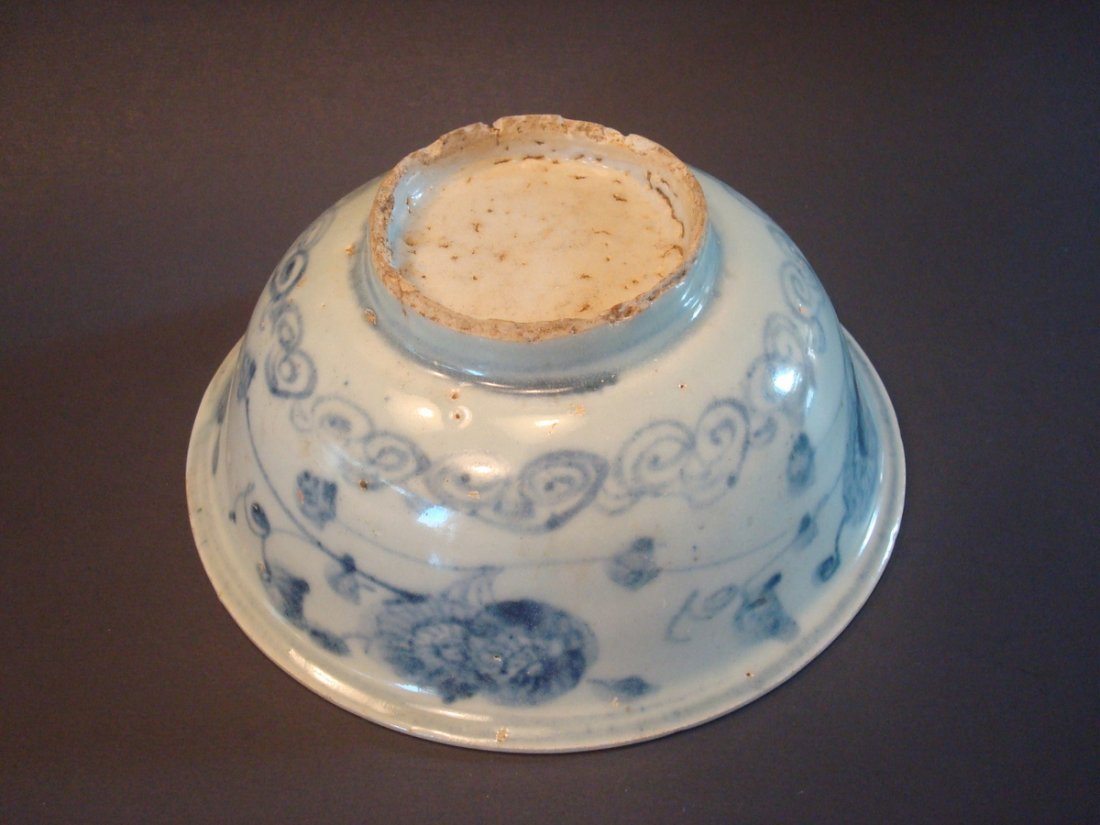 ANTIQUE Chinese Blue and White Bowl, Ming - 4