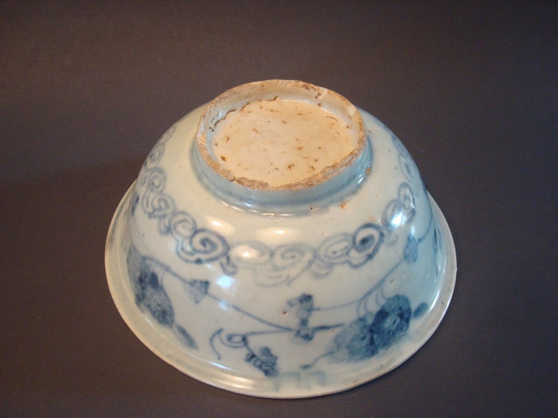 ANTIQUE Chinese Blue and White Bowl, Ming - 5