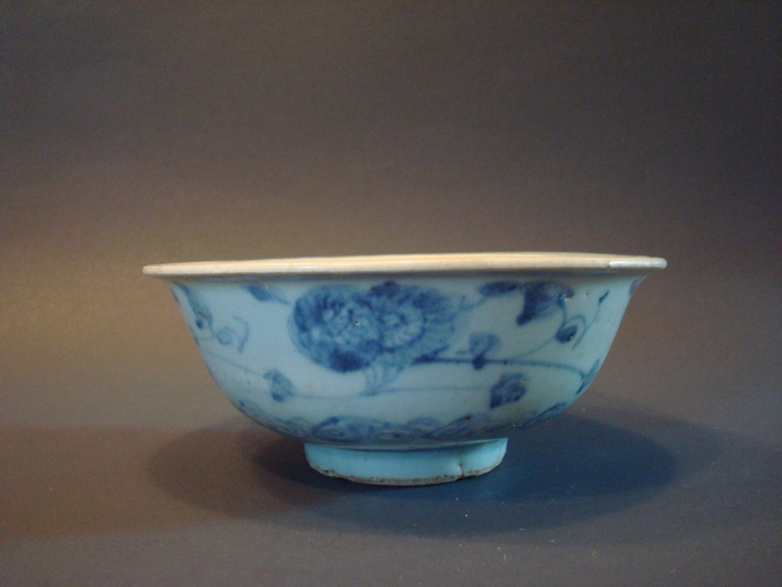 ANTIQUE Chinese Blue and White Bowl, Ming - 7