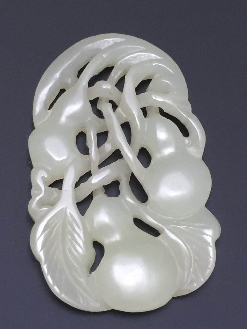 A WHITE JADE PENDANT 18TH OR 19TH CT - 3