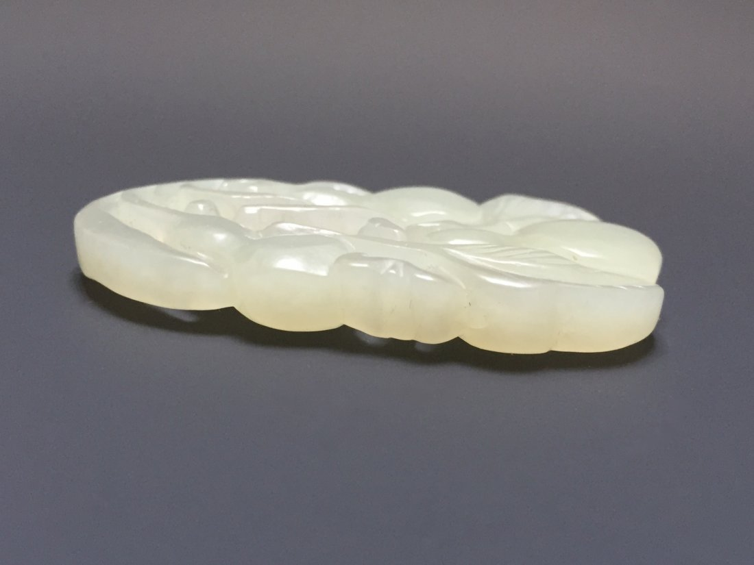 A WHITE JADE PENDANT 18TH OR 19TH CT - 4